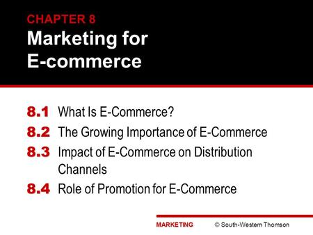 CHAPTER 8 Marketing for E-commerce