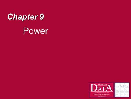 Chapter 9 Power. Decisions A null hypothesis significance test tells us the probability of obtaining our results when the null hypothesis is true p(Results|H.