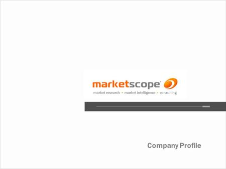 Company Profile market research market intelligence consulting.