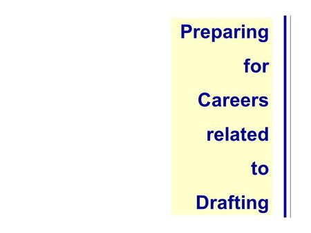 Preparing for Careers related to Drafting. Successful Career Planning is a Five Step Process: Self Assessment Career Exploration Goal Setting Take Action.