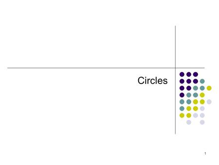 1 Circles. 2 3 Definitions A circle is the set of all points in a plane that are the same distance from a fixed point called the center of the circle.