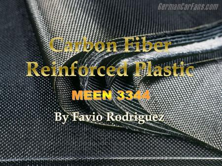  Carbon fiber reinforced plastic (CFRP or CRP) is a light-weight, high strength, composite material.  Depending on the task, carbon fiber reinforced.