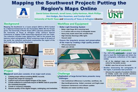 Mapping the Southwest is a 3-year project (2010 to 2013) funded by a National Endowment for the Humanities (NEH) We the People grant. The University of.