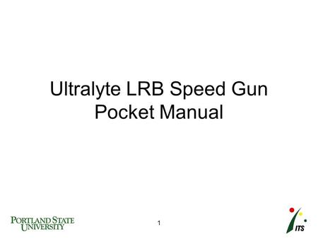 Ultralyte LRB Speed Gun Pocket Manual