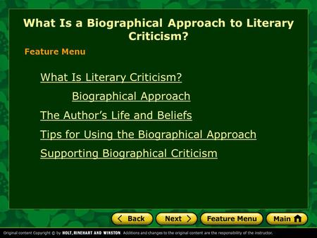 What Is a Biographical Approach to Literary Criticism?
