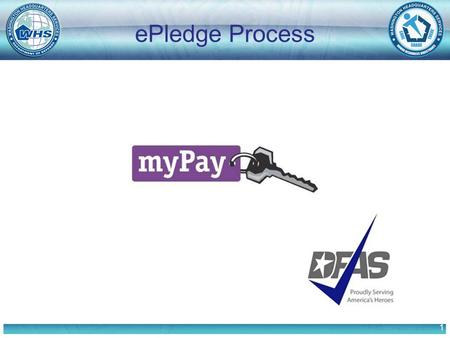 1 ePledge Process. 2 Before logging in to the myPay system: Research the Charities. www.cfcgreaternc.org printed Charity List The myPay system will time-out.