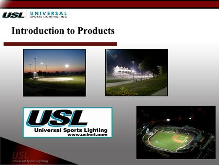 Introduction to Products. Industry Leading Performance Glare and spill light control has become a major concern for new sports lighting installations.
