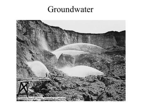 Groundwater. Porosity & Permeability Porosity: - the percentage of the total volume of a rock consisting of voids. - pore spaces: spaces between mineral.