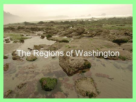 The Regions of Washington. What do you see??? The Regions Washington has five land regions. 1.Coastal Range 2.Puget Sound Lowlands 3.Cascade Range 4.Columbia.
