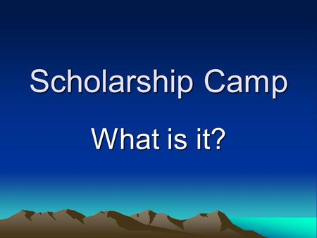 "Scholarship Camp What is it?. A Famous Awana Missionary once said: ""If it isn't FUN, it isn't Awana"""