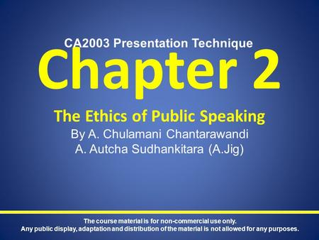 ethical public speaking paper