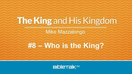 Mike Mazzalongo #8 – Who is the King?. Jesus in Jerusalem: Teach and confront Pharisees Triumphal entry Judgement and prophesy Celebrate final Passover.