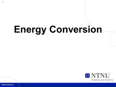 1 Energy Conversion. 2 Specific energy The specific energy of a hydro power plant is the quantity of potential and kinetic energy which 1 kilogram of.