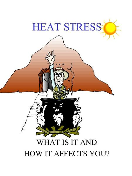 HEAT STRESS WHAT IS IT AND HOW IT AFFECTS YOU?. External Factors affecting Heat Stress Air movement Clothing Radiant heat ( hot vessels and sun) Humidity.