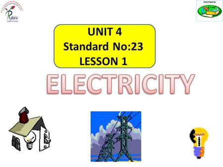 UNIT 4 Standard No:23 LESSON 1. Open physics for you pg : 217 - 192.