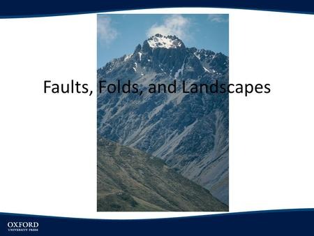 Faults, Folds, and Landscapes. Objectives Introduce basic terminology used in describing rock structure Distinguish between types of fault movements and.