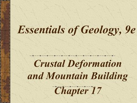 Essentials of Geology, 9e