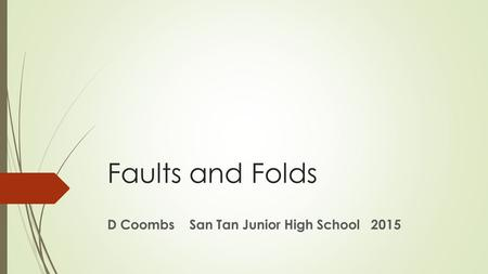 D Coombs San Tan Junior High School 2015