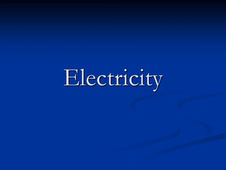 Electricity. Electricity Electric shock happens when a person becomes part of an electrical circuit and the current flows through their body. When an.