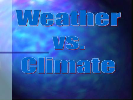 Weather is.... Weather is the day-to-day state of the atmosphere, and its short-term (minutes to weeks) variation Weather is the day-to-day state of.