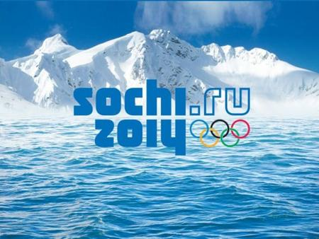 WELCOME TO SOCHI-2014: XXII OLYMPIC WINTER GAMES.