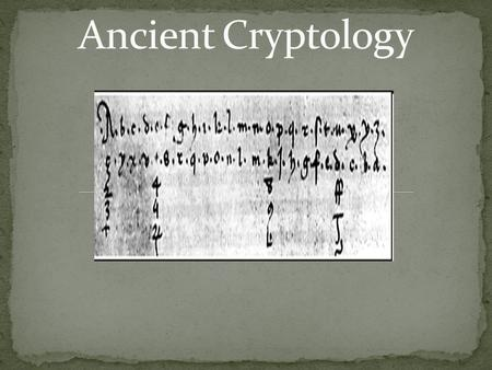 Cryptology in WWII Essay