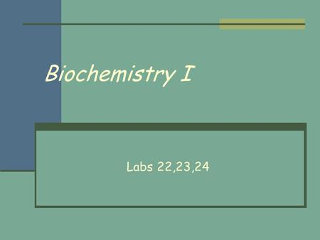 Biochemistry I Labs 22,23,24. Exoenzymes – Lab 22 Bacteria make enzymes to digest macromolecules outside of the cell The smaller sub units of the enzymatic.