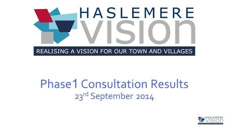 Phase 1 Consultation Results 23 rd September 2014.