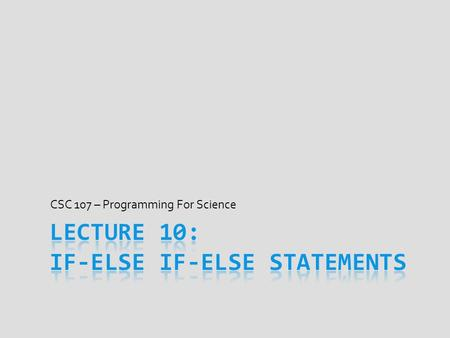 CSC 107 – Programming For Science. Spacing in a Program  C++ ignores spaces in a program  This also means where newlines placed ignored  #define &