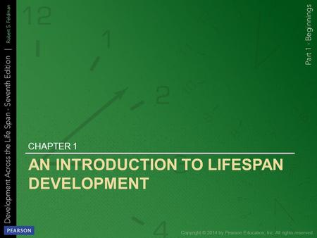 AN INTRODUCTION TO LIFESPAN DEVELOPMENT CHAPTER 1.