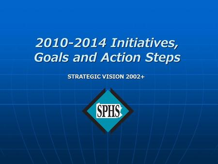 2010-2014 Initiatives, Goals and Action Steps STRATEGIC VISION 2002+
