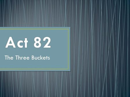 The Three Buckets. #1 Classroom Teachers #2 Principals #3 Nonteaching Professional Employees.
