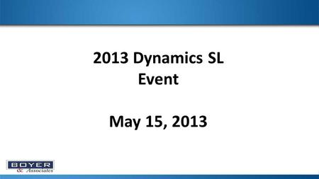 2013 Dynamics SL Event May 15, 2013. As of 5/1/2013 the most recent version of MR is 2012 Rollup 5 Proceed with caution if you choose to update your MR.