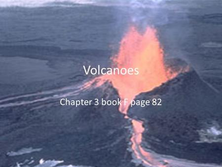 Volcanoes Chapter 3 book F page 82. Vocab for section 1 Volcano Magma Lava Ring of fire Hot spot.