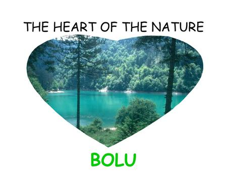 THE HEART OF THE NATURE BOLU. Bolu is located between the two biggest city.200 km far away from İstanbul and 200 km far away from the capital city ! Located.
