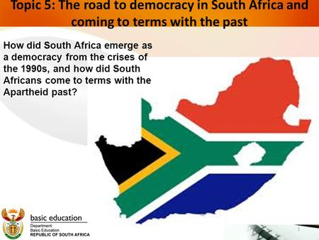 advent of the democratic dispensation in south africa Two decades after the collapse of apartheid governance system and the advent of a new democratic dispensation,  in south africa 2 public service delivery.