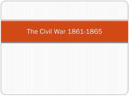 The Civil War 1861-1865. Table of Contents Vocabulary Questions Introduction The Slavery Issue Westward Expansion Failure to Compromise Southern Secession.