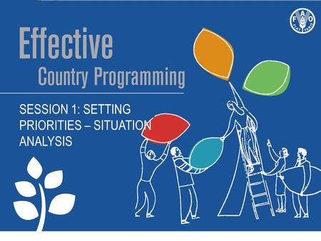 SESSION 1: SETTING PRIORITIES – SITUATION ANALYSIS.