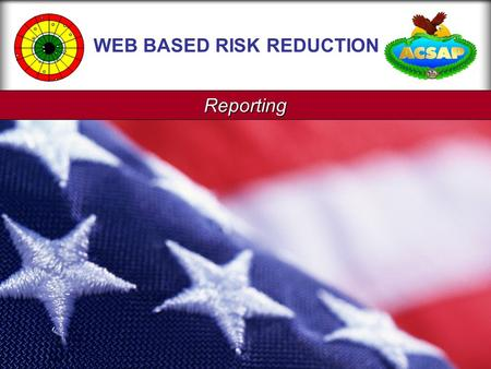 Reporting WEB BASED RISK REDUCTION. Reporting Page 2.