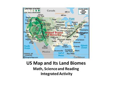 US Map and Its Land Biomes