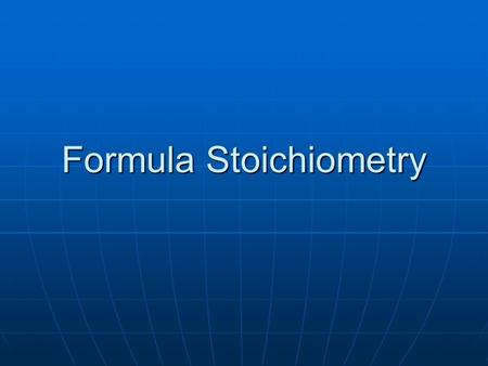 Formula Stoichiometry. What is stoichiometry? Deals with the specifics of QUANTITY in chemical formula or chemical reaction. Deals with the specifics.