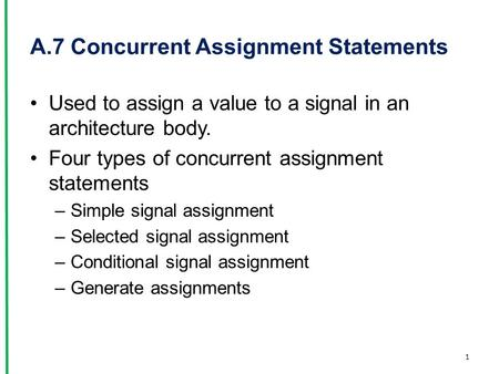 Conditional Assignment