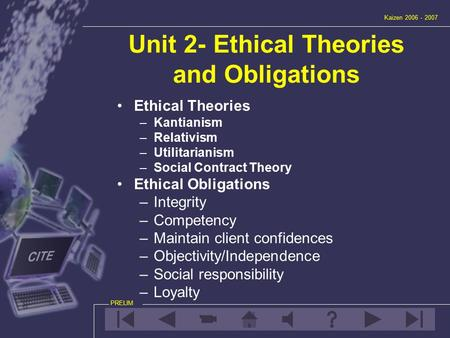 Unit 2- Ethical Theories and Obligations