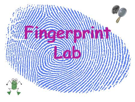 Fingerprints are an impression of the lines on the inner surface of the thumb and fingers. Patterns are made by tiny ridges on the skin. The ridges on.