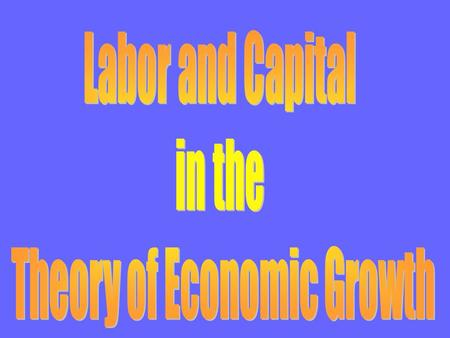 Macroeconomics is divided into two parts Theory of economic growth –focuses on long run trend of real GDP the source of improved living standards –the.