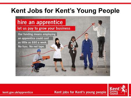 Kent Jobs for Kent's Young People. Our priorities Doubling the number of apprenticeships (from 6% of cohort to 12%) Improving the skills base through.