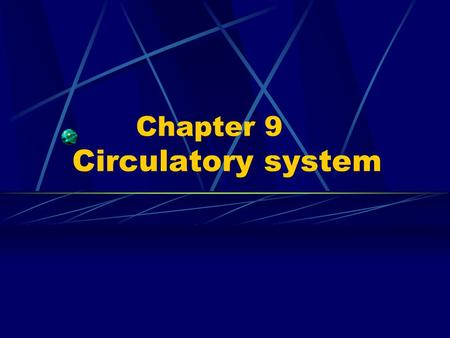 Chapter 9 Circulatory system. ---Closed tubular system ---Blood circulatory or cardiovascular S ---Lymph vascular S.