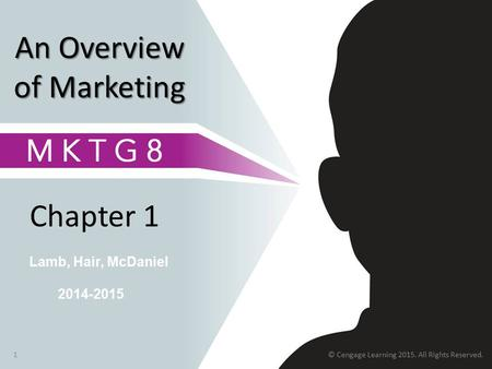 Chapter 1 1 Lamb, Hair, McDaniel An Overview of Marketing 2014-2015 © Cengage Learning 2015. All Rights Reserved.