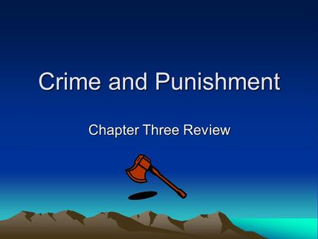 Crime and Punishment Chapter Three Review. Chapter One Love – Hate relationship with family Guilt Rasumikhin loves Dunya Razumikhin - all things admired.