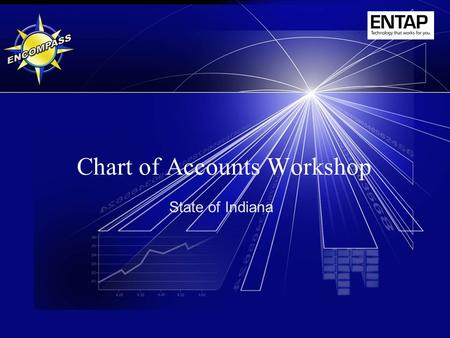 Chart of Accounts Workshop State of Indiana. 2 Instructor – Gwyn Wilson, ENTAP – Lori Shapiro, ENTAP – Bob Hegyi, ENTAP.